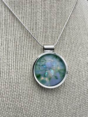 """""""Guyla"""" Kilnformed Glass Necklace"""
