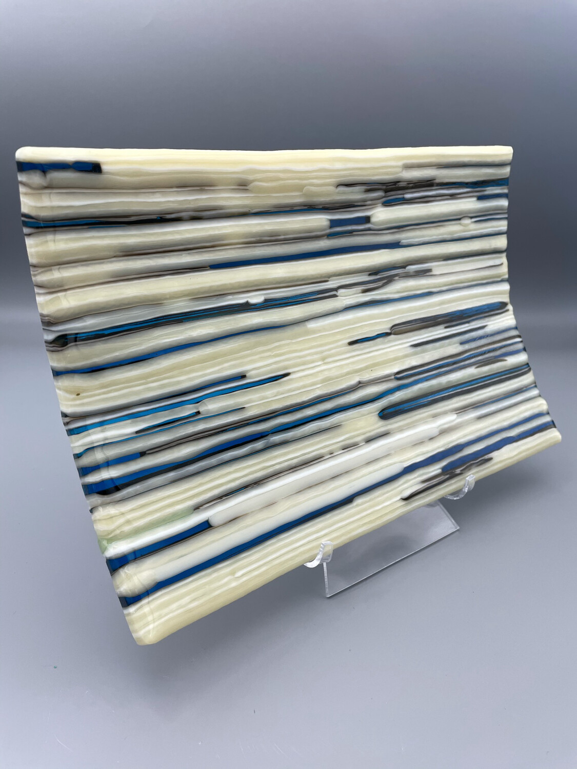 """""""Between the Lines"""" Fused Glass Platter"""