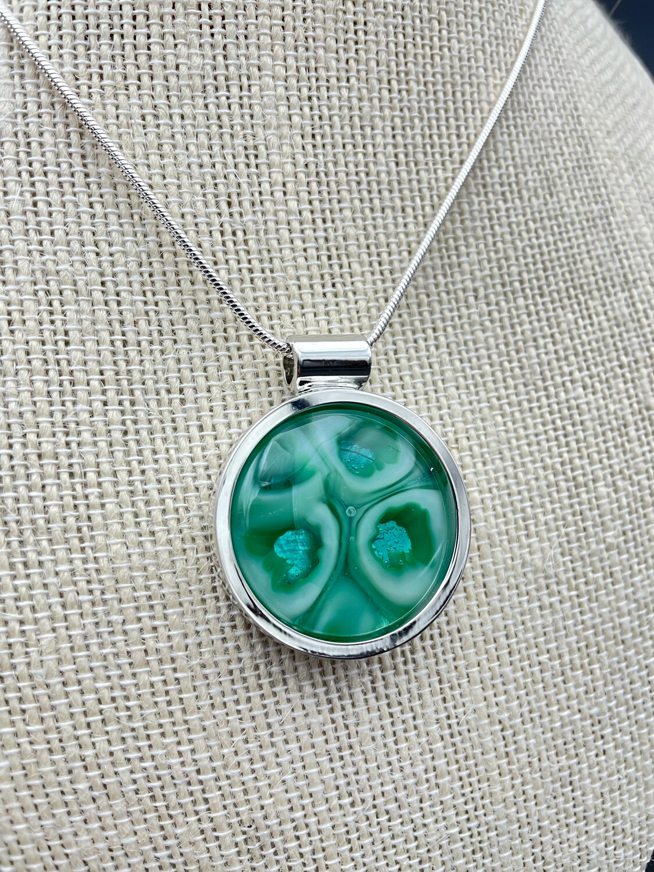 """""""Janice"""" Kilnformed Glass Necklace"""