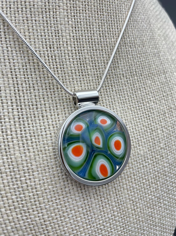 """Jackie"" Kilnformed Glass Necklace"