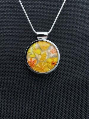 """""""Daisy"""" Kilnformed Glass Necklace"""