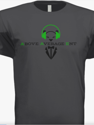 Dark Grey Short-Sleeve Shirt w/Black & Green Logo