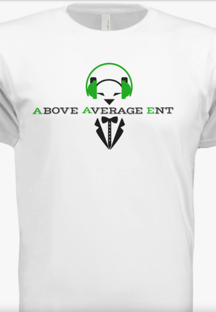White Short-Sleeve Shirt w/ Black & Green Logo