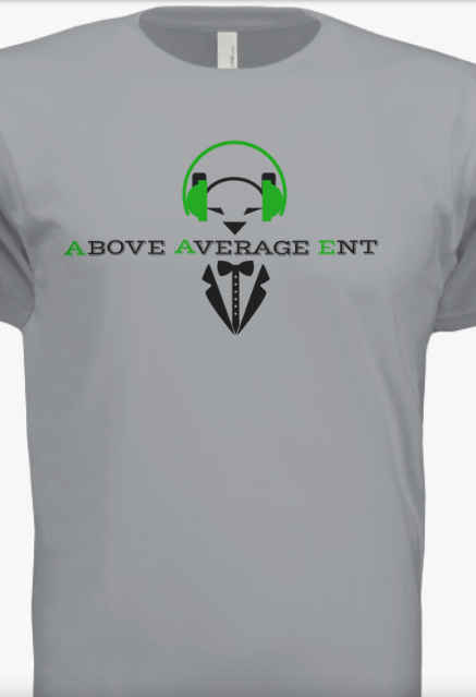 Light Grey Short-Sleeve Shirt w/ Black & Green Logo