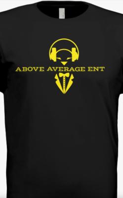 Black Short-Sleeve Shirt w/Yellow Logo