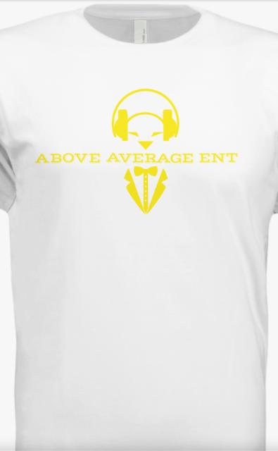 White Short-Sleeve Shirt w/ Yellow Logo