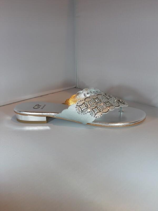 GP | Platte slipper zilver