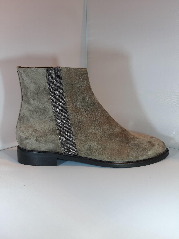 Catwalk | Platte boot taupe daim