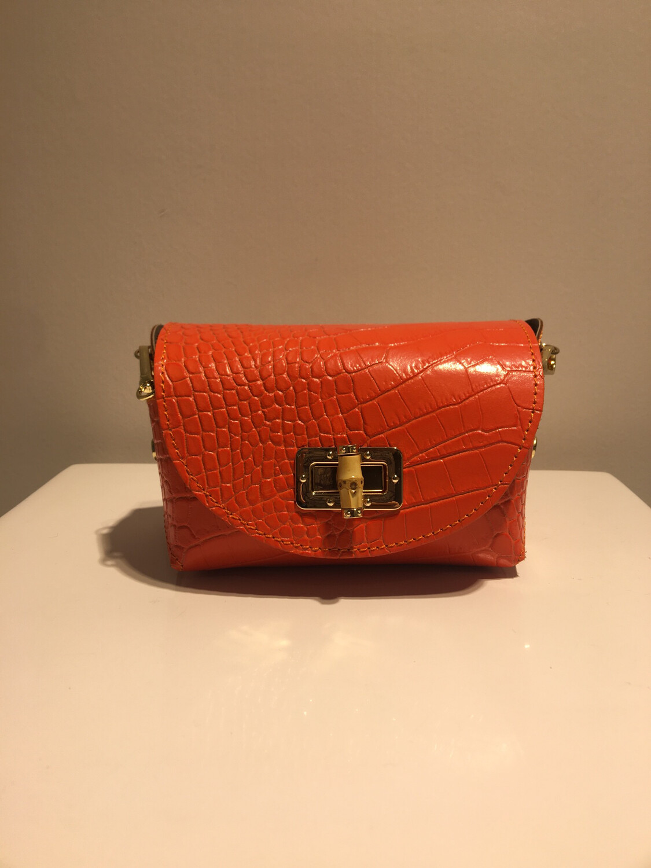 Mondieux Madame Oranje Python Leder