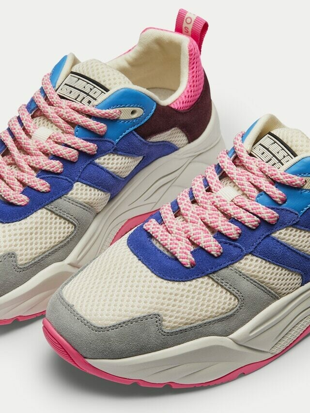 scotch and soda / sneaker blauw - fuchsia