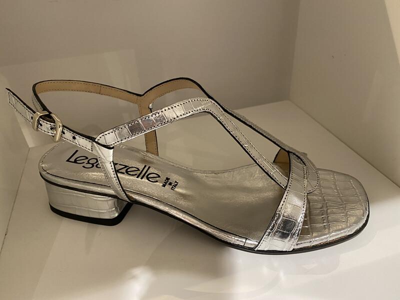 Le Gazelle /zilveren sandaal 3cm hak