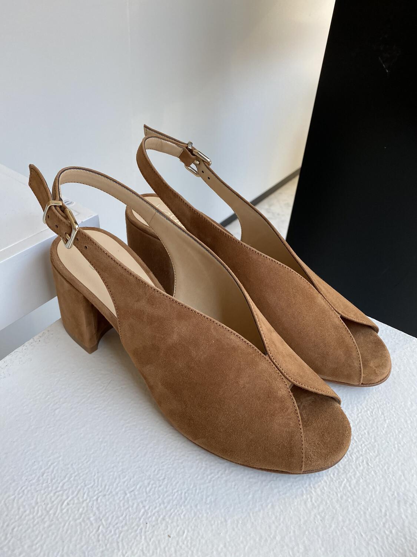 Le Gazelle / sandaal cognac daim