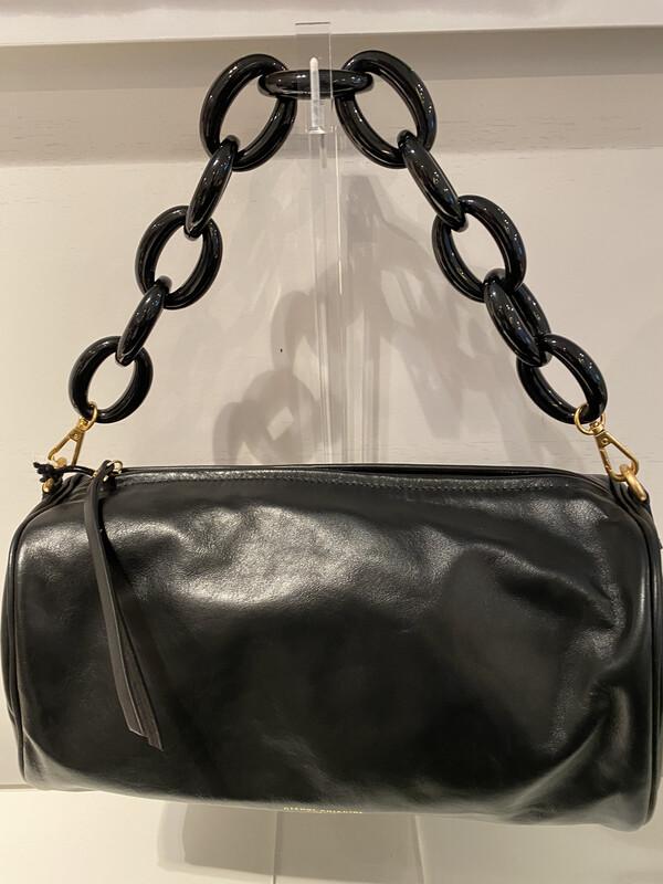 chiarini / tas zwart met schakel ketting