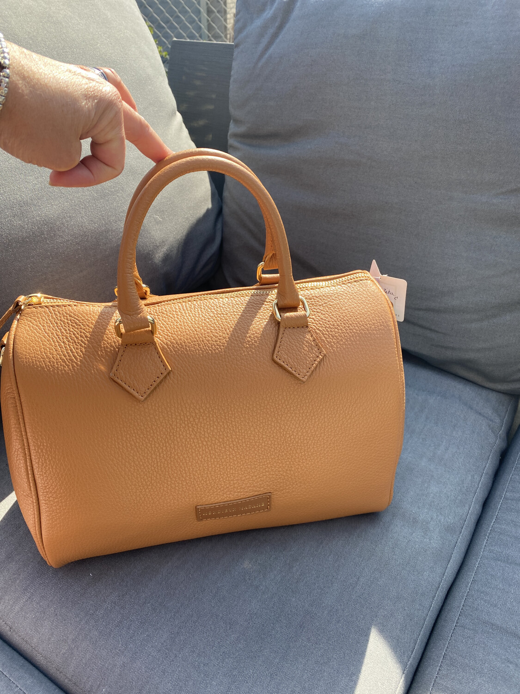 Mondieux Madame / Bowling bag Cognac Leder
