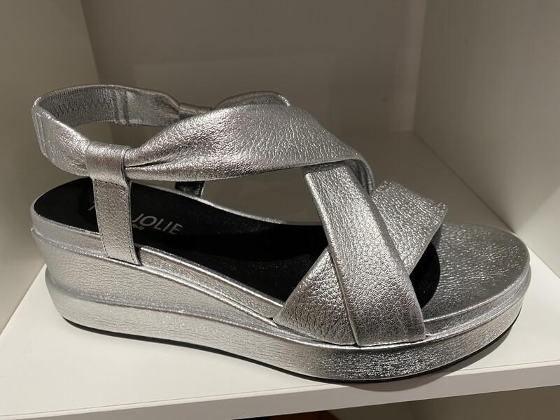 Tres Jolie / sleehak sandaal zilver