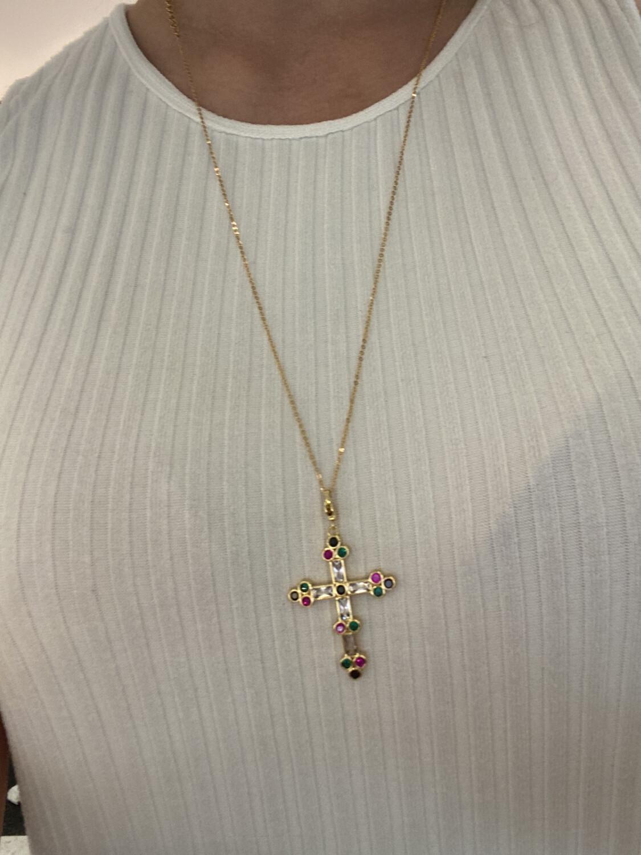 Gouden Ketting Met Kruis Multi