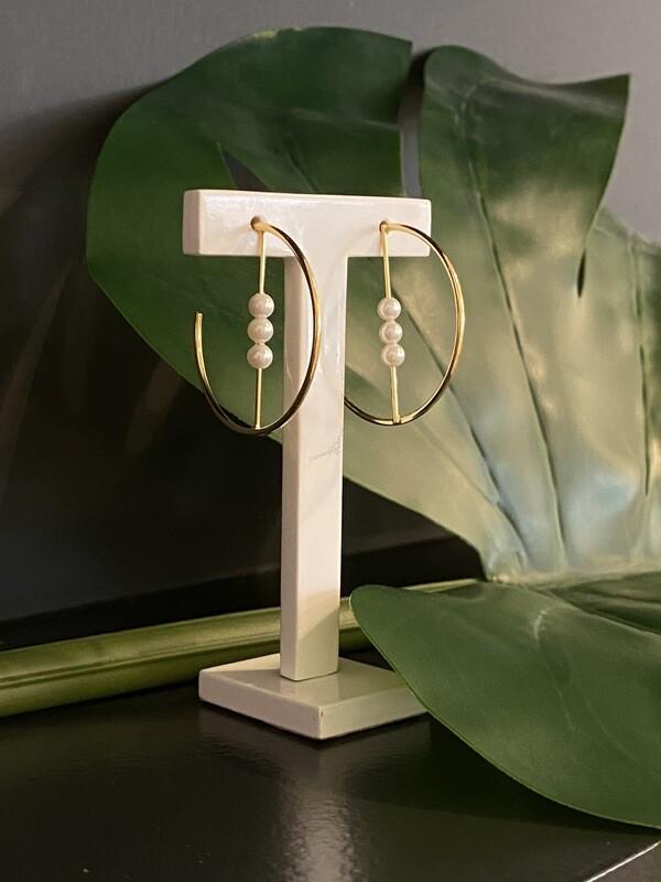 Gouden Ringen Met Perlefine
