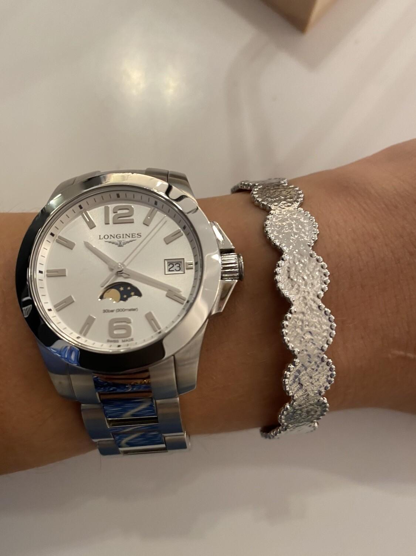 Zilveren Brede Vaste Armband
