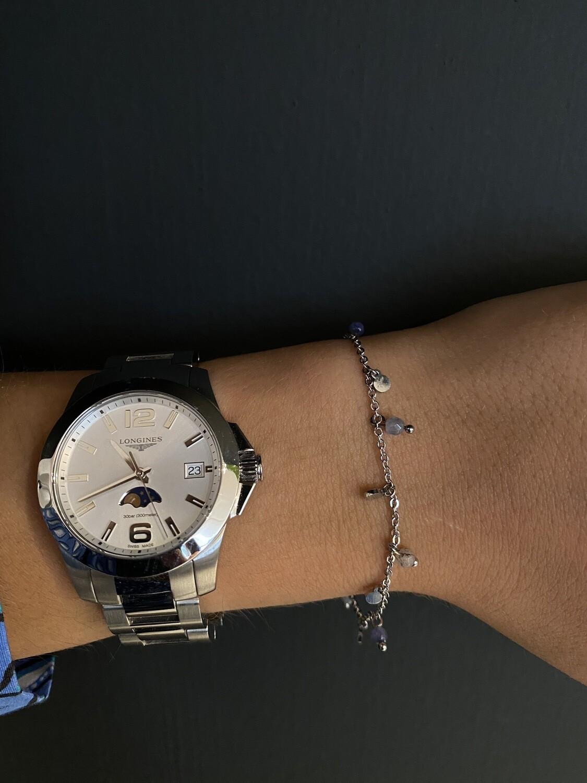 Zilveren Armbandje Grijze Parels