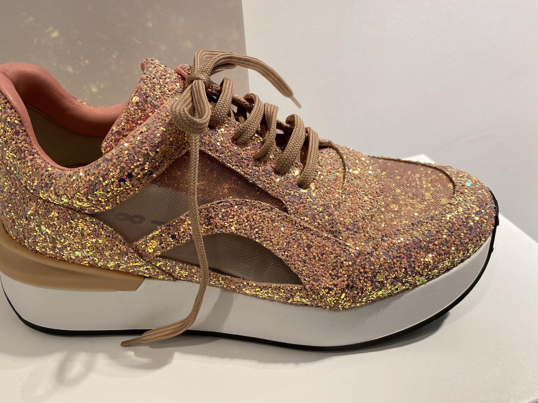 181 sneaker roze glitter