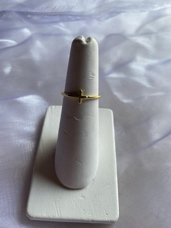 ring goud met kruisje