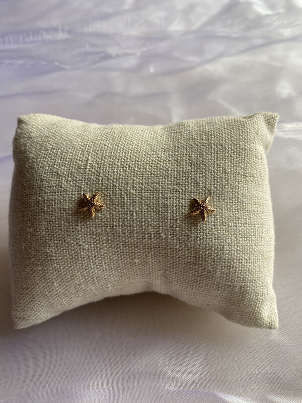 oorringen insteekmodel goud sterretjes