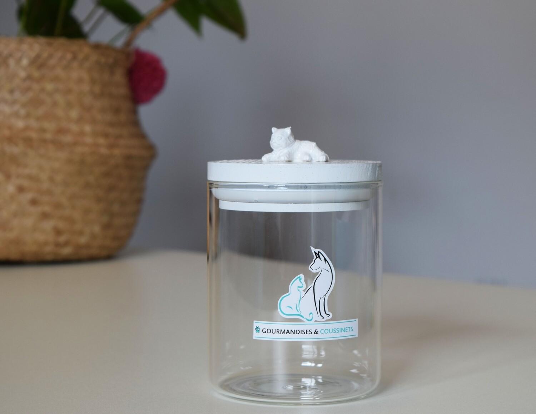 Bocal en verre Hermétique figurine Chat