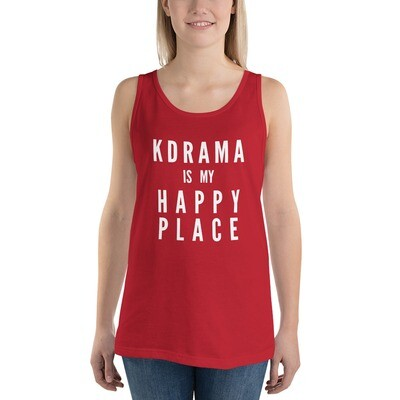 KDRAMA IS MY HAPPY PLACE Unisex Tank Top