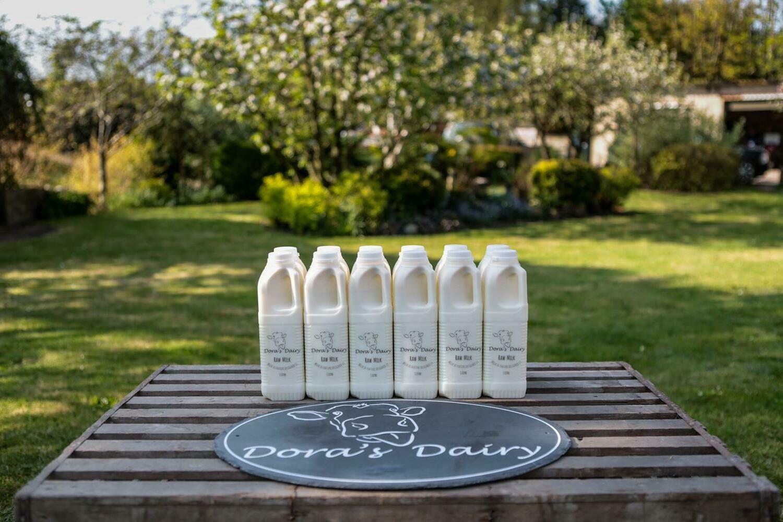 12 x 1 Ltr Unpasteurised milk in plastic bottles