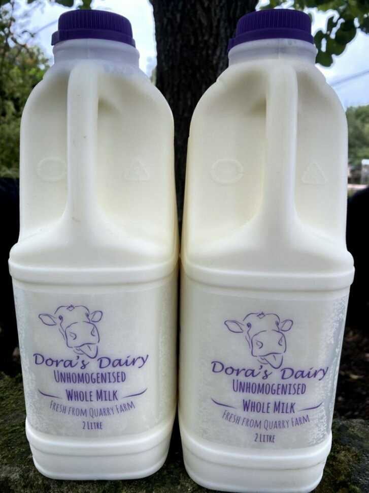 4 x 2ltr Pasteurised unhomogenised Milk and Meat Combo Box