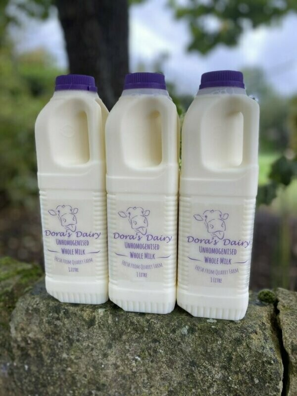 6 x 1 Litre Pasteurised unhomogenised Milk and Meat Combo Box