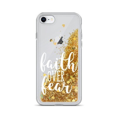 Faith Over Fear Liquid Glitter Phone Case
