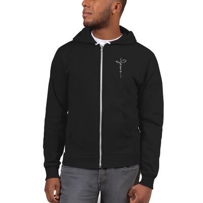 Zip up Hoodie sweater with Jesus logo