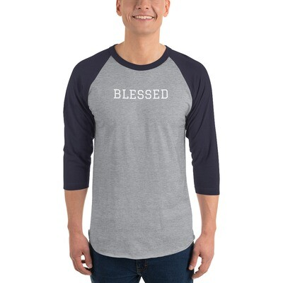 3/4 sleeve BLESSED raglan shirt