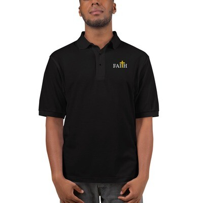 Men's Faith Embroidered Premium Polo