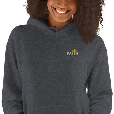 Unisex Embroidered Faith Hoodie