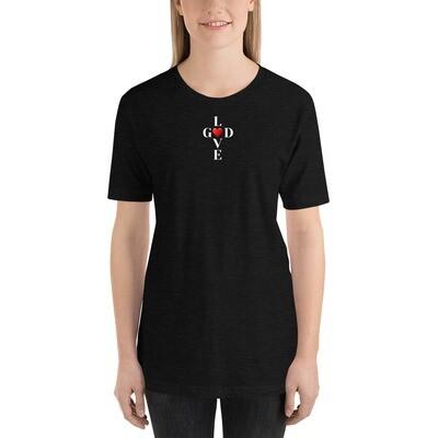 Short-Sleeve God,Love Unisex T-Shirt