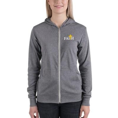 Unisex Faith zip hoodie
