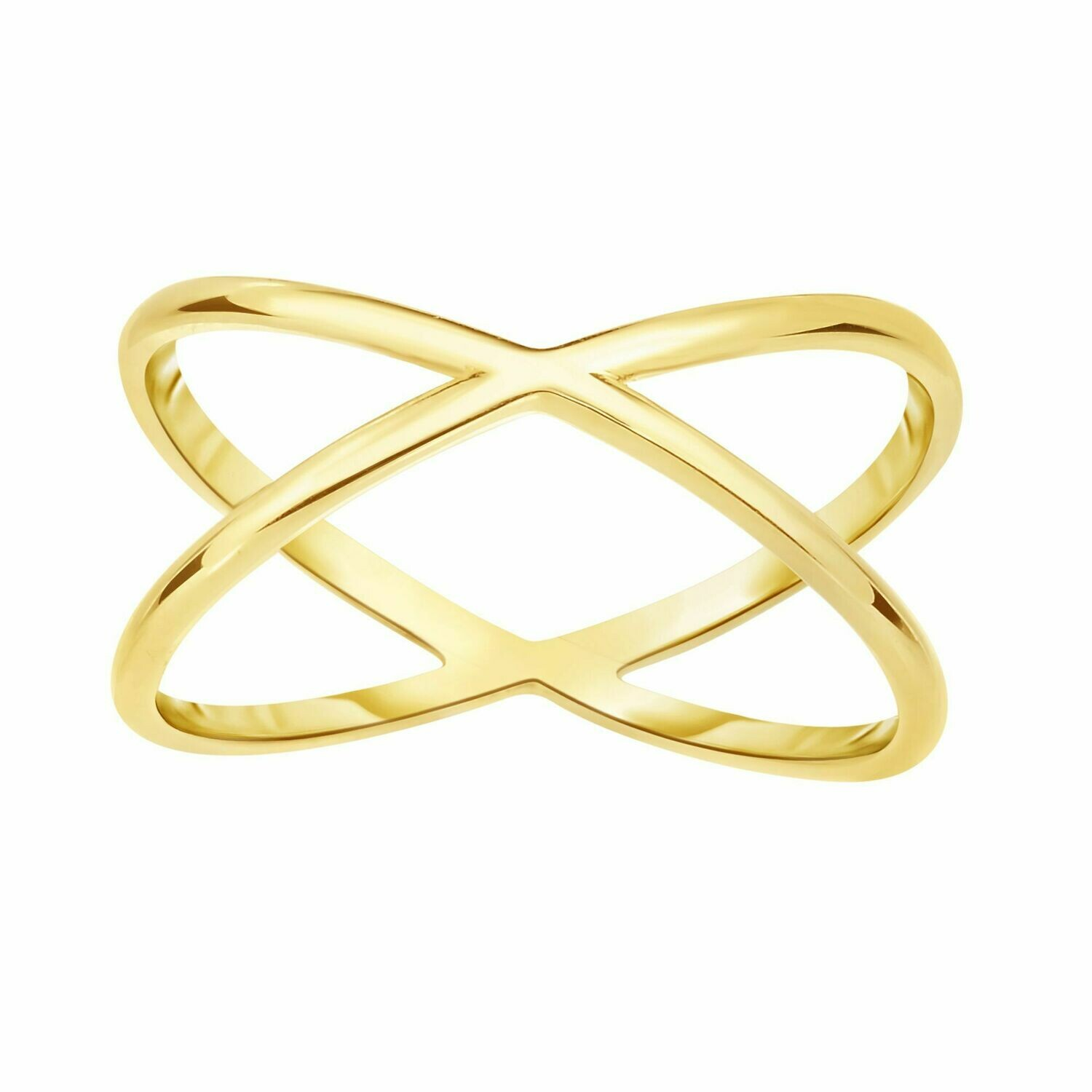 14K Gold Crisscross Ring