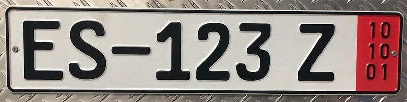 1 Paar Autoschilder Zoll 520 x 110