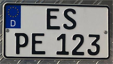 1 Stück Kleinkraftrad Kennzeichen 240 x 130
