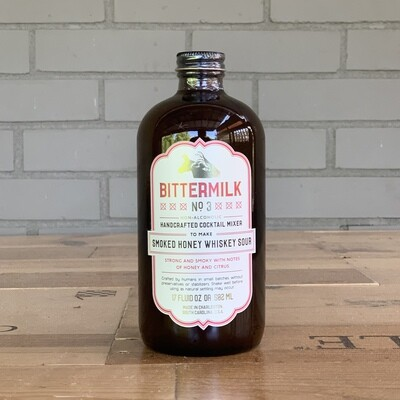Bittermilk Cocktail Mixer No. 3 - Smoked Honey Whiskey Sour (17 fl oz)