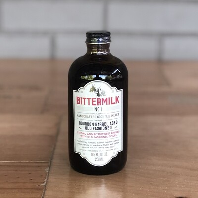 Bittermilk Cocktail Mixer No. 1 - Bourbon Barrel Aged Old Fashioned (8.5 fl oz)