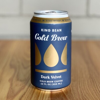 King Bean Nitro Infused Cold Brew Coffee: Dark Velvet