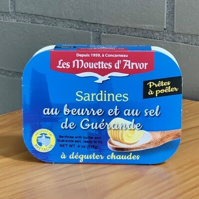 Les Mouettes d'Arvor Sardines With Butter & Sea Salt