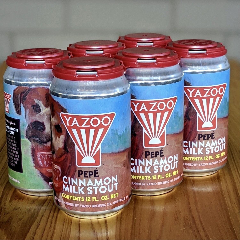Yazoo Pepé Cinnamon Milk Stout (6pk)