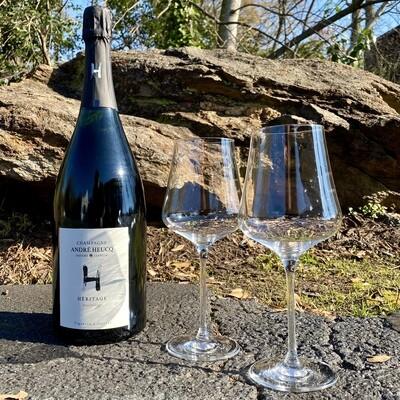 Gabriel Glas StandArt + André Heucq Champagne Bundle (2 Glasses + 1500ml Bottle)