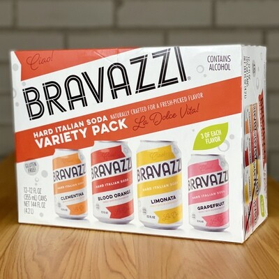 Bravazzi Hard Italian Soda Variety (12pk)
