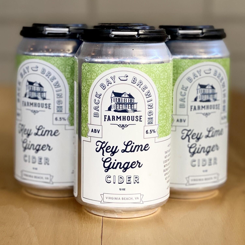 Back Bay Key Lime Ginger Cider (4pk)