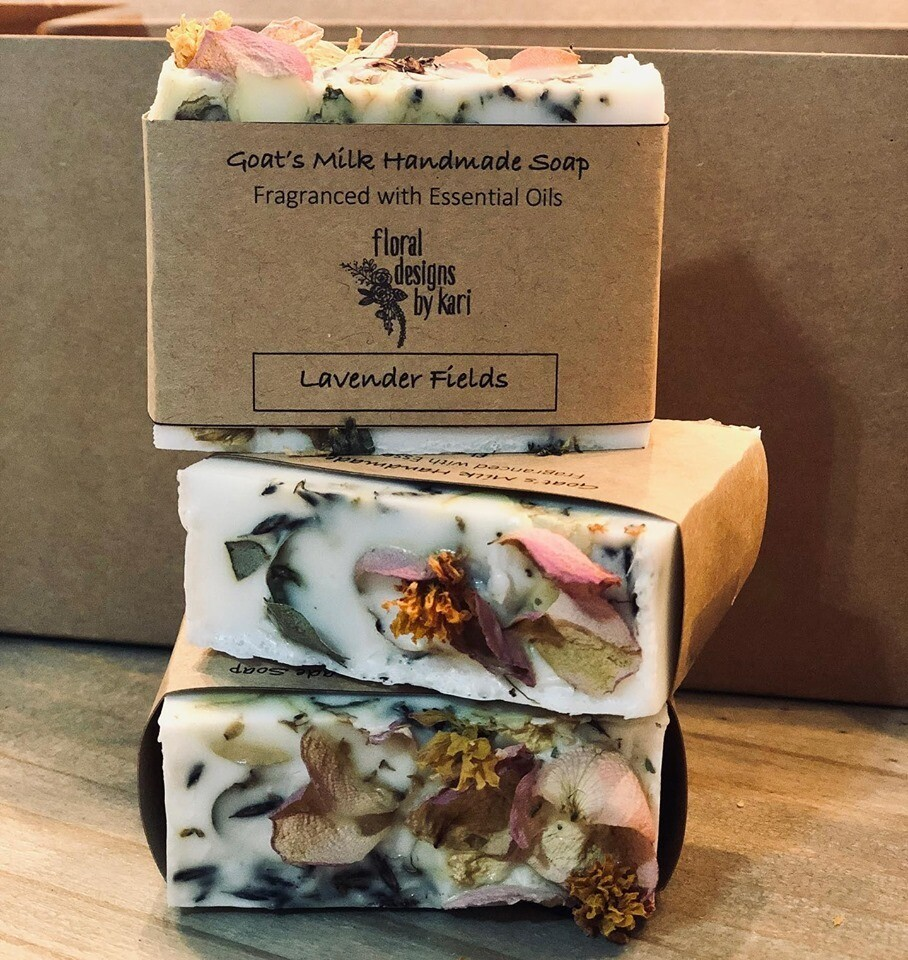 Handmade Goat's Milk Flower Soap